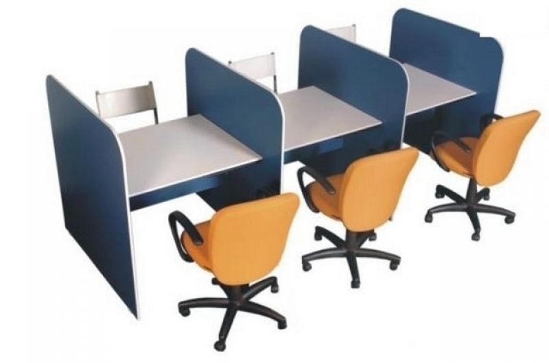 Mesa Ergonômica para Call Center Valor Guararema - Mesa de Call Center com Divisórias